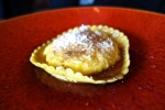 Raviolo di ricotta with farm egg