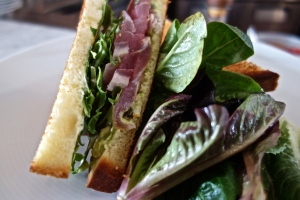 Seared Tuna Sandwich, Spicy Avocado, Capers & Meyer Lemon