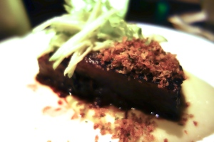 Soy Glazed Short Ribs%0DApple-Jalapeño Puree, Rosemary Crumbs