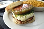 Gourmandj Burger - Chicken, Kale Pesto, Heirloom, Goat Cheese