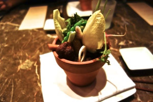 Seasonal Vegetable Salad - Shoka no vegetables %22takiawase%22, back garlic soil