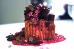 Pork and Beet Lasagna, Beet Pesto, %22red things%22